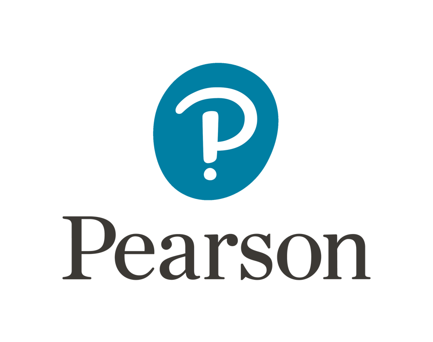 Pearson Logo (blue and white)