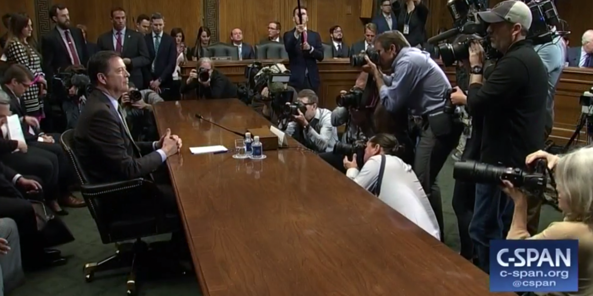 James Comey at Congressional hearing
