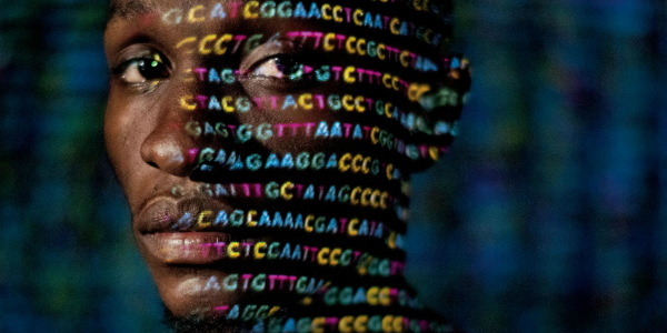 DNA sequence over face