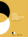 Journal of Applied Communication Research Cover