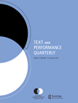 Text and Performance Quarterly Cover