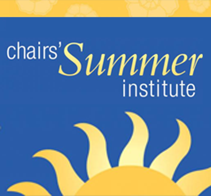 Chairs' Summer Institute logo with sun