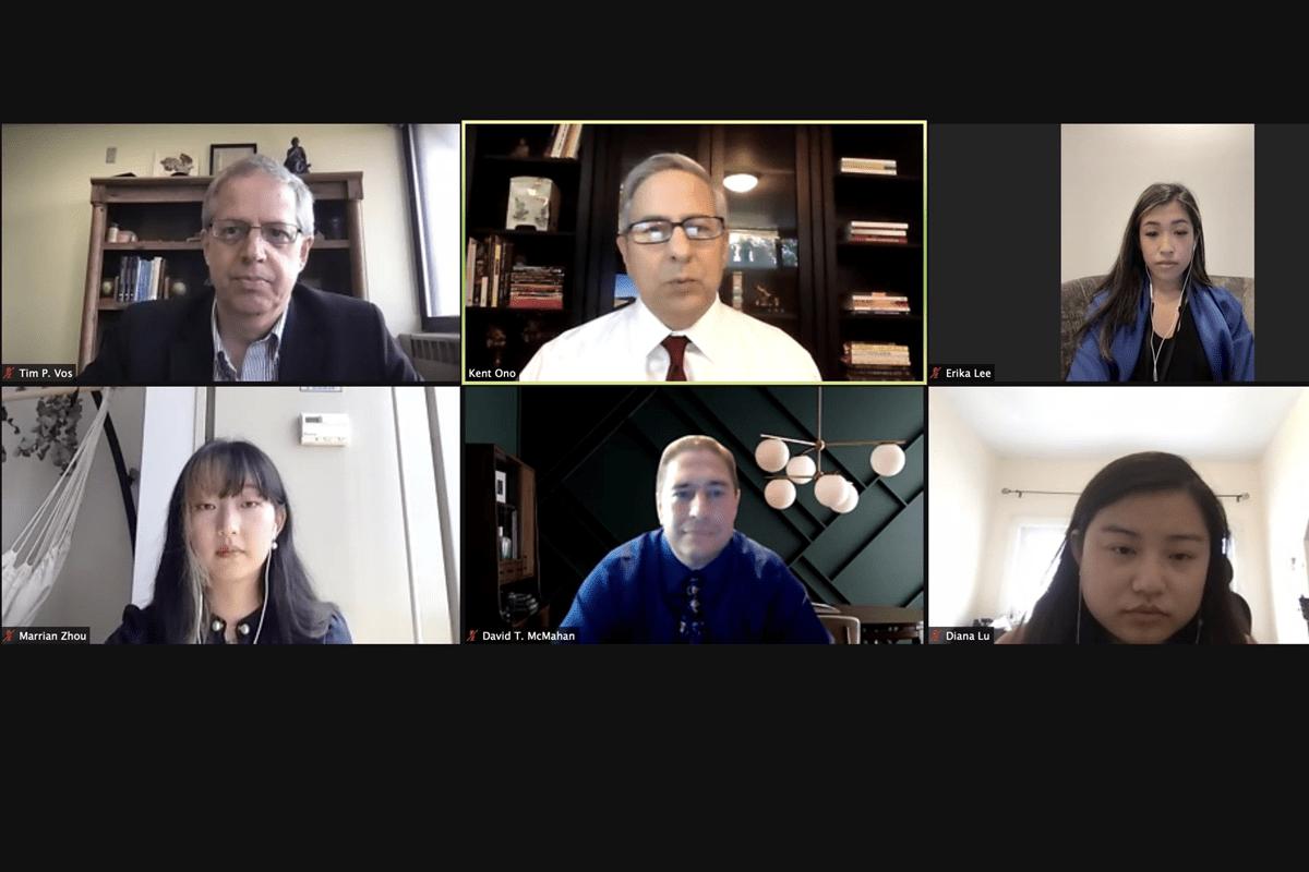 Screenshot of workshop panelists
