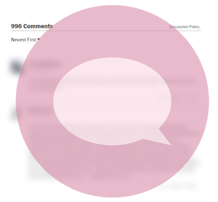 Blurred discussion board