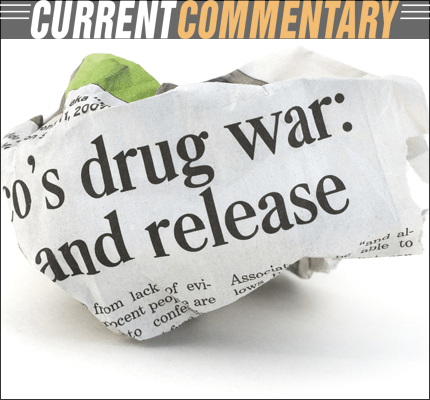 War on Drugs Newspaper Headline