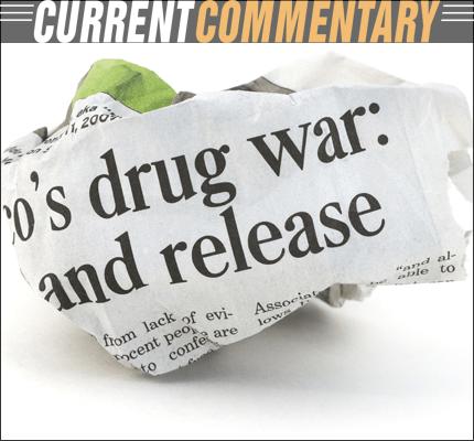 War on Drugs Newspaper Headline