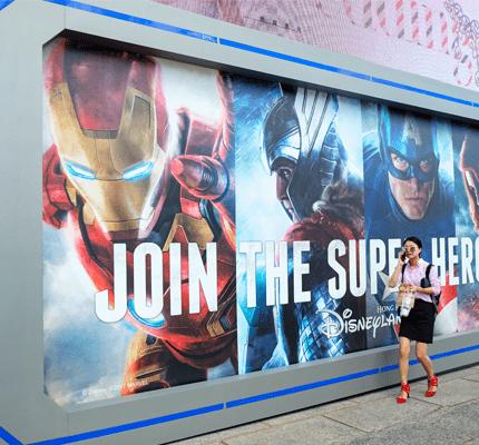 """Hong Kong -July 12, 2017: """"Super Hero Summer"""" Exhibition activity in Harbour city,Tsim Sha Tsui, Hong Kong"""