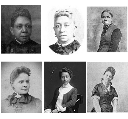 Headshots of Williams, Cooper, Coppin, Early, Brown, Harper