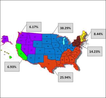 Geographical Distribution of Department Names