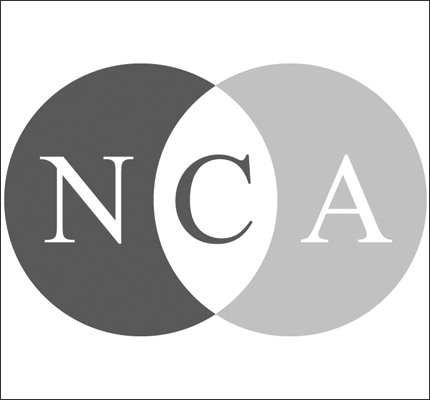NCA logo in gray