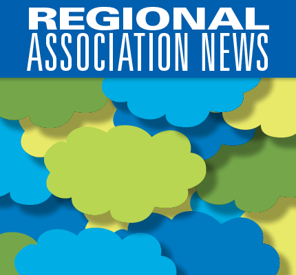 Abstract art with Regional News title