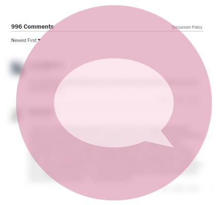 Blurred discussion board