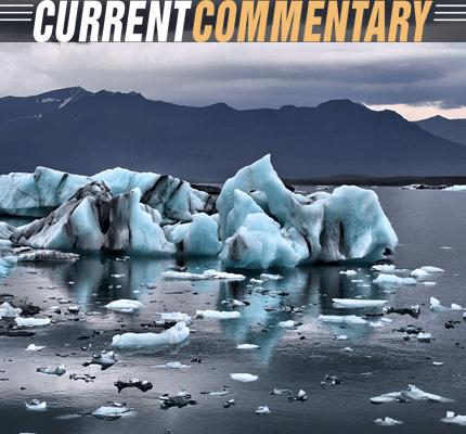 Photo of melting glaciers