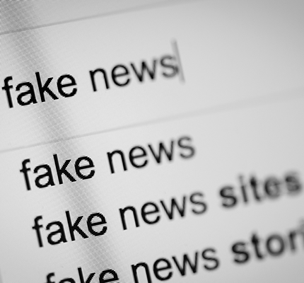 Fake news search via search engine