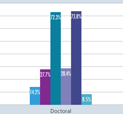Chart of Doctoral figures