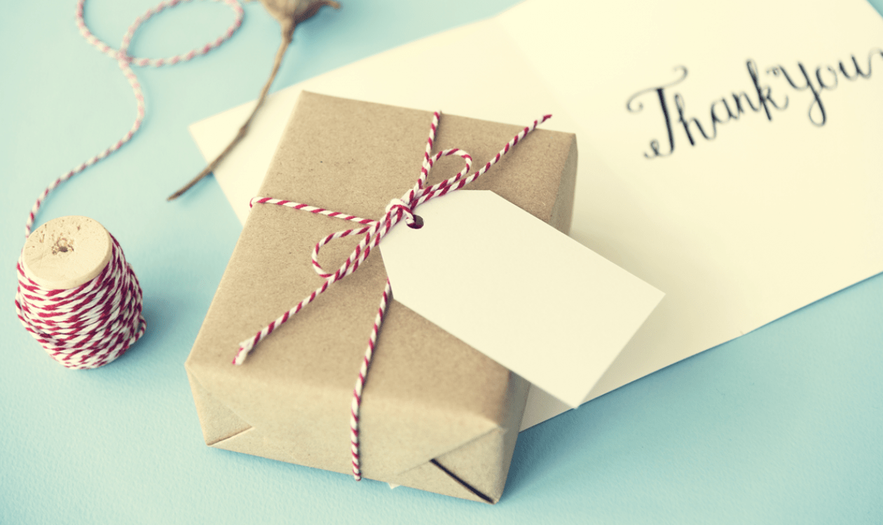 Present and thank you note