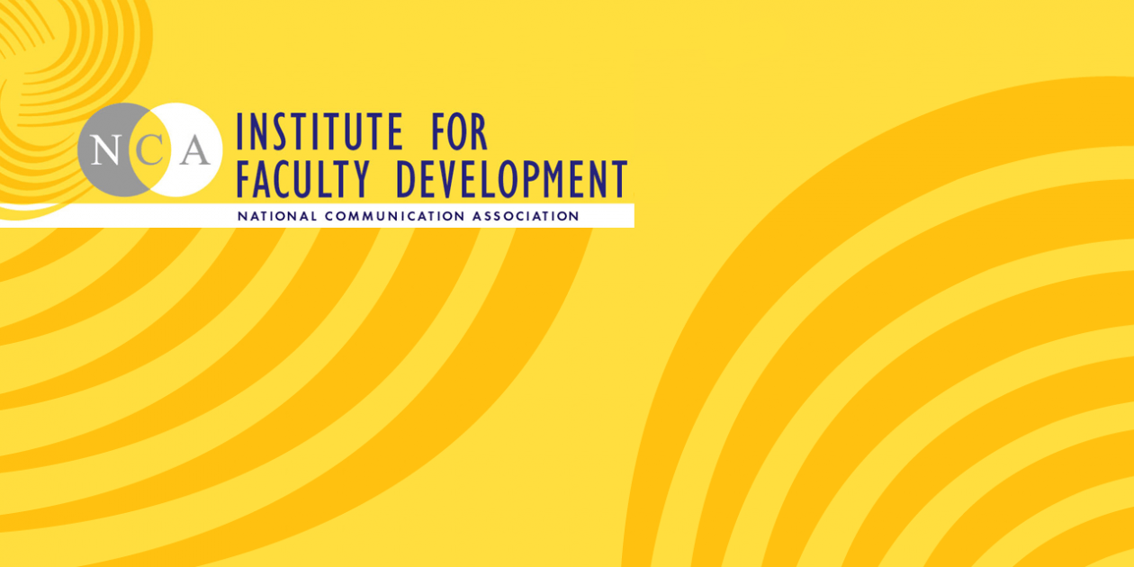 Abstract art with Institute for Faculty Development logo