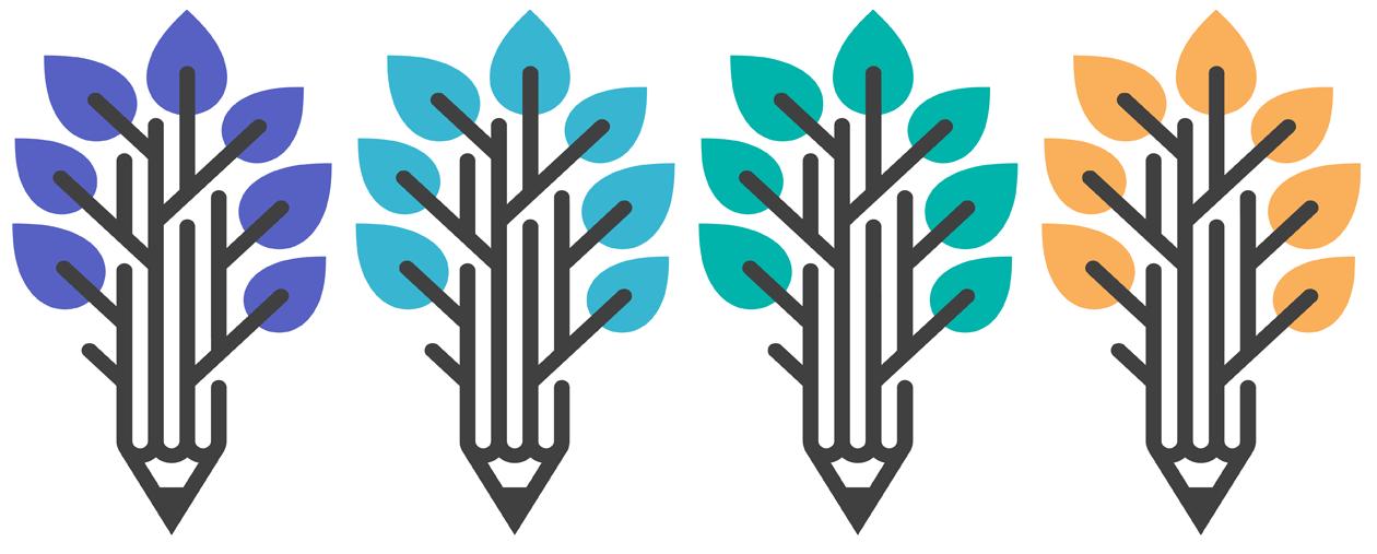 Pencils that resemble trees artwork